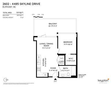 Brentwood Park Condo for sale: ALTUS 1 bedroom 519 sq.ft. (Listed 2020-10-05)