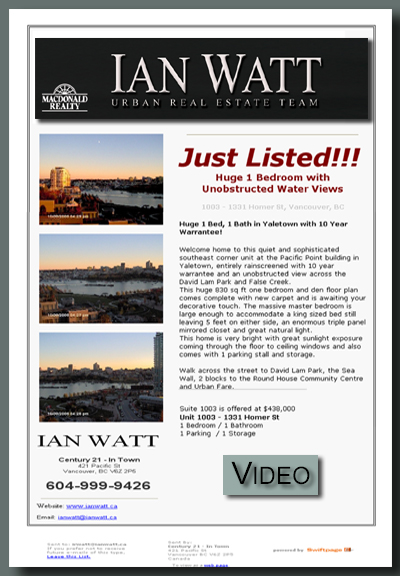 Just Listed Ian Watt