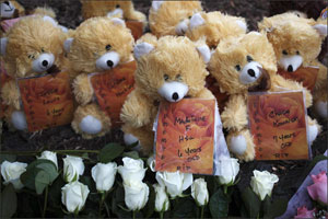 Newtown teddy bears for the fallen