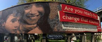 Vancity Billboard made of pennies 1