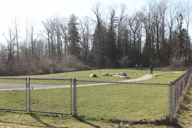 Clayton dog park fenced in for small dogs