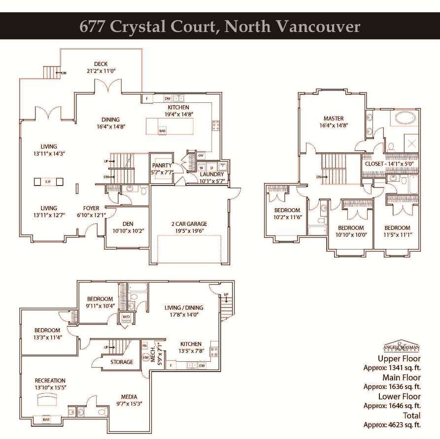 677 Crystal Court North Vancouver - Floorplan