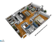 Crosstown/Tinseltown Apartment for sale: Firenze 1 bedroom 617 sq.ft. (Listed 2013-04-09)