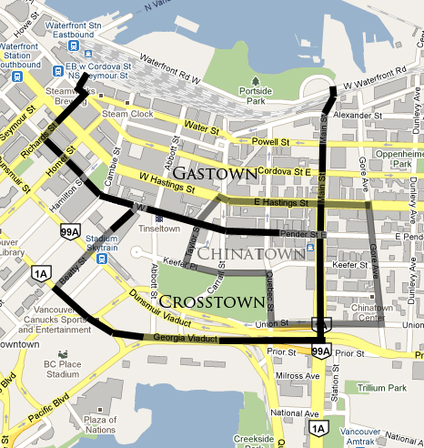 Crosstown Vancouver / Gastown Vancouver / Chinatown Vancouver MAP by Jay McInnes