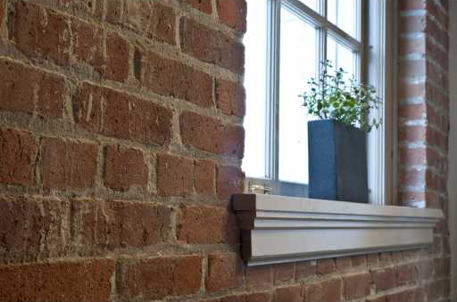 546 Beatty St (540 Beatty) - Exposed brick window sill by Jay McInnes