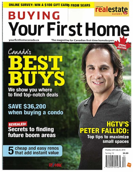 Buying your First Home (Cover) Spring 2010 edition feat: Jay McInnes