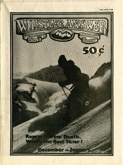 Whistler Answer Vol 1 No 21