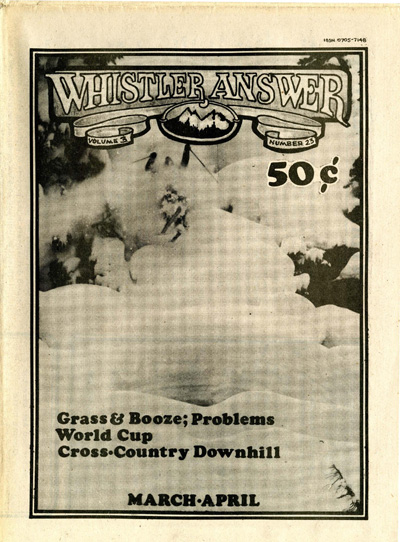 Whistler Answer Vol 1 No 23