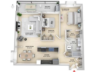 Lower Lonsdale Condo for sale:  2 bedroom 1,051 sq.ft. (Listed 2018-03-22)