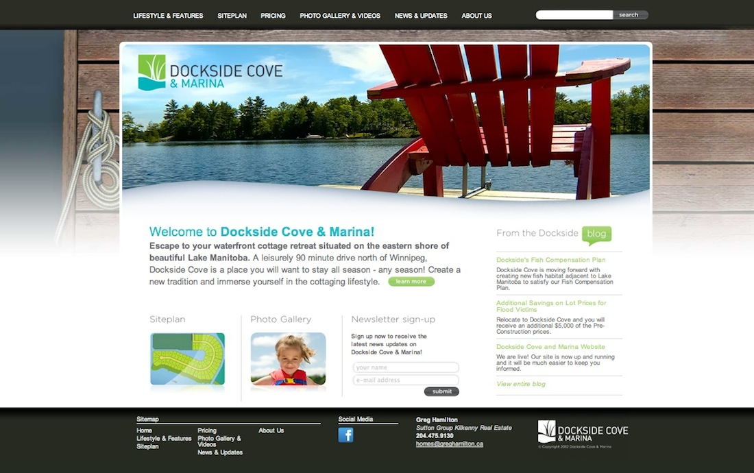 Dockside Cove Website