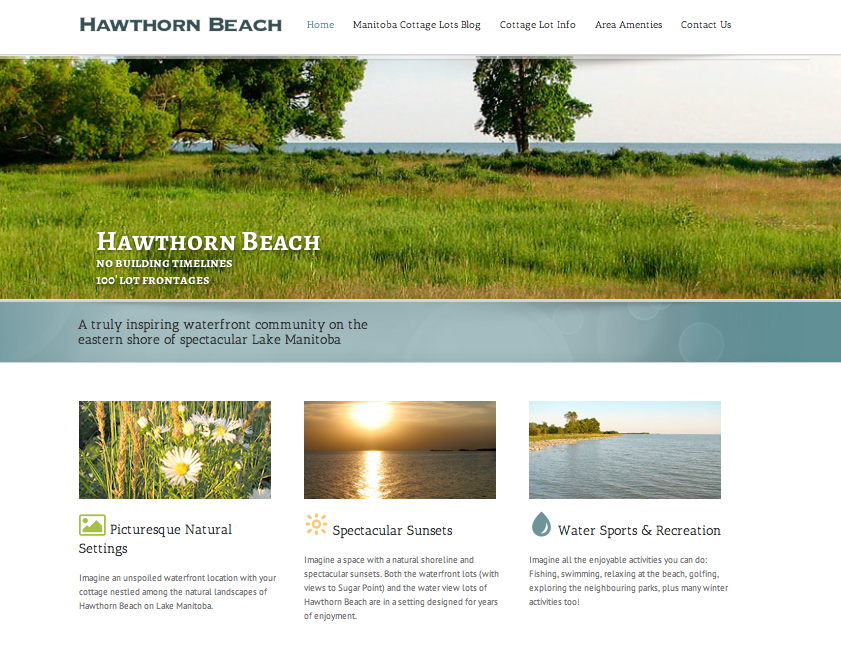 Hawthorn Beach Website
