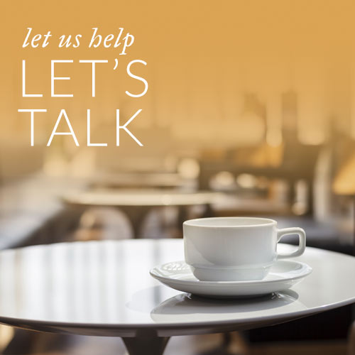 let's talk - coffee cup