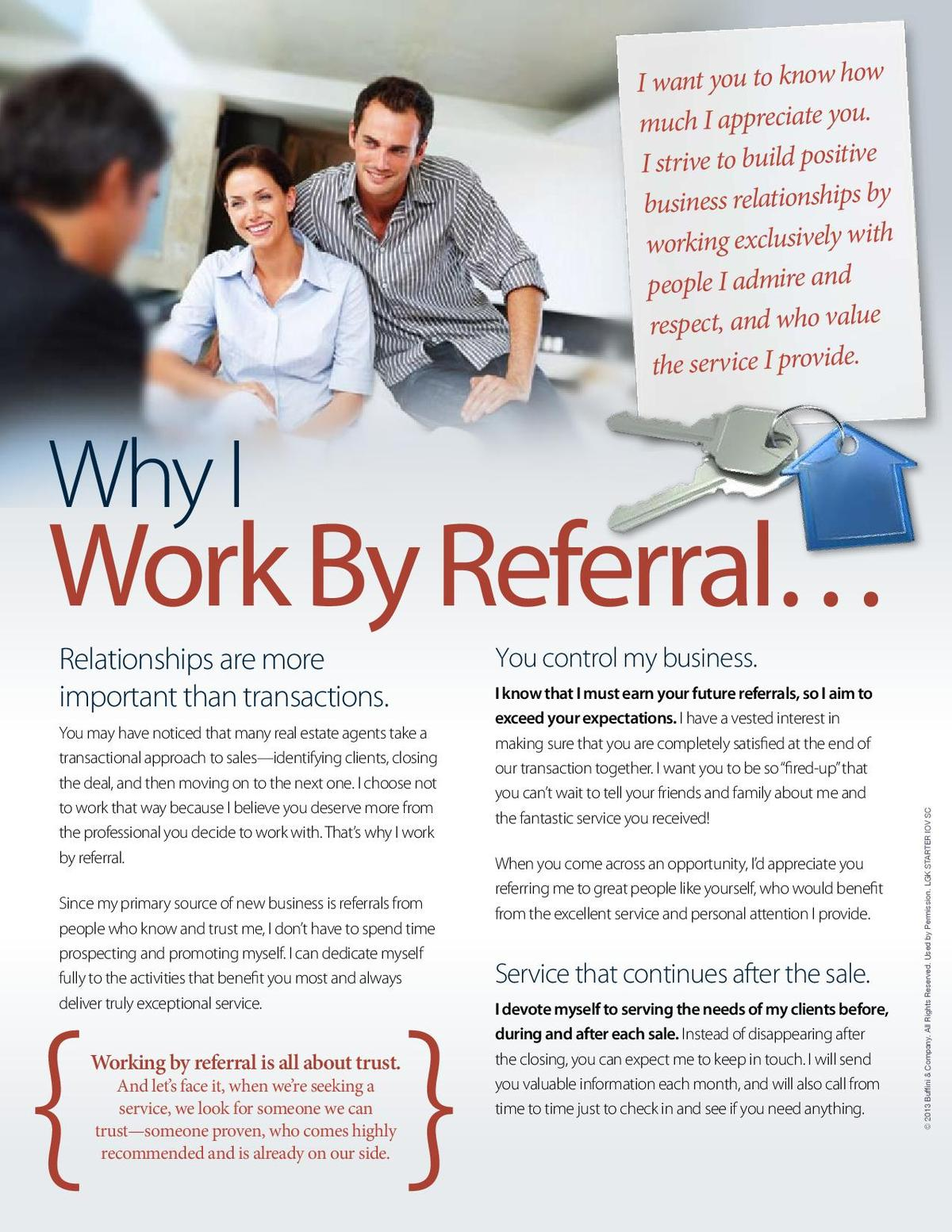 Working By Referral