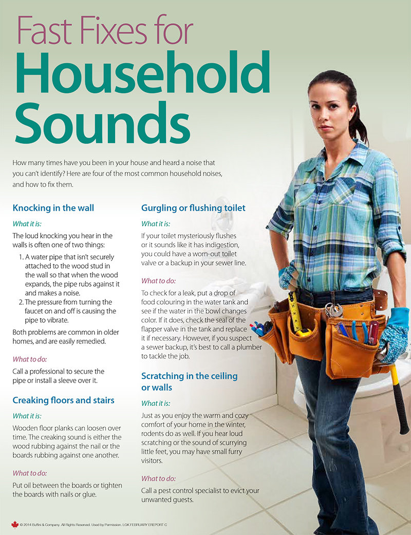 Fast Fixes for Household Sounds