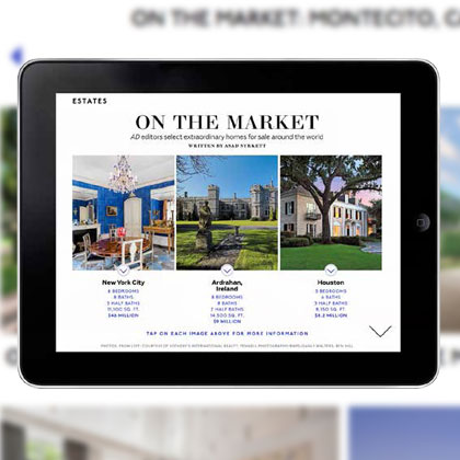 Kelly Raabe Architectural Digest Ipad