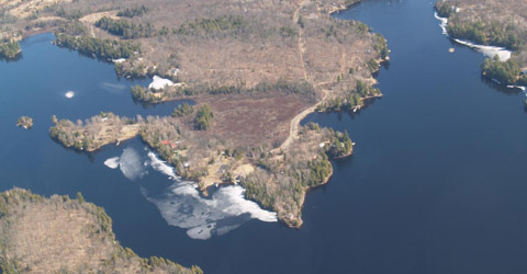 Whitestone Lake from the air , Parry Sound District