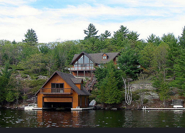 Muskoka cottage in summer