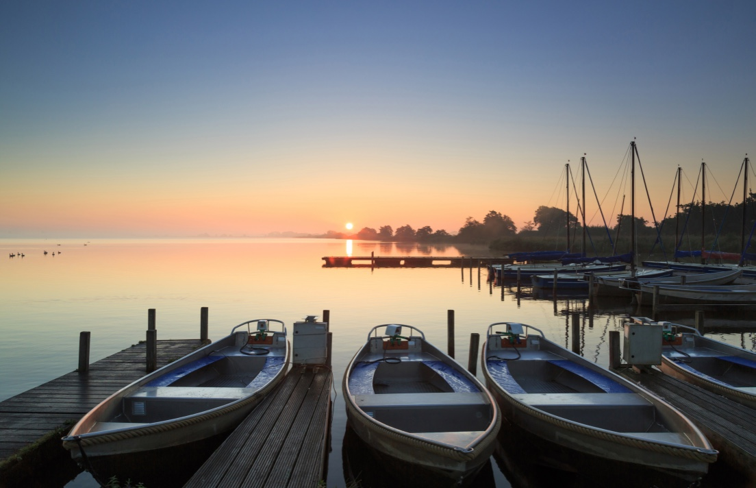 Muskoka Marina with boats docked