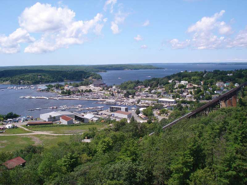 Parry Sound from the air