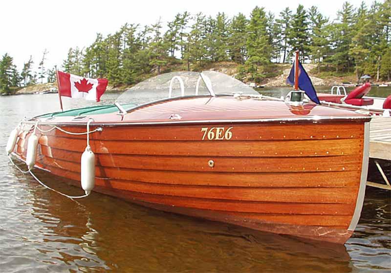 Wooden boat near Port Carling
