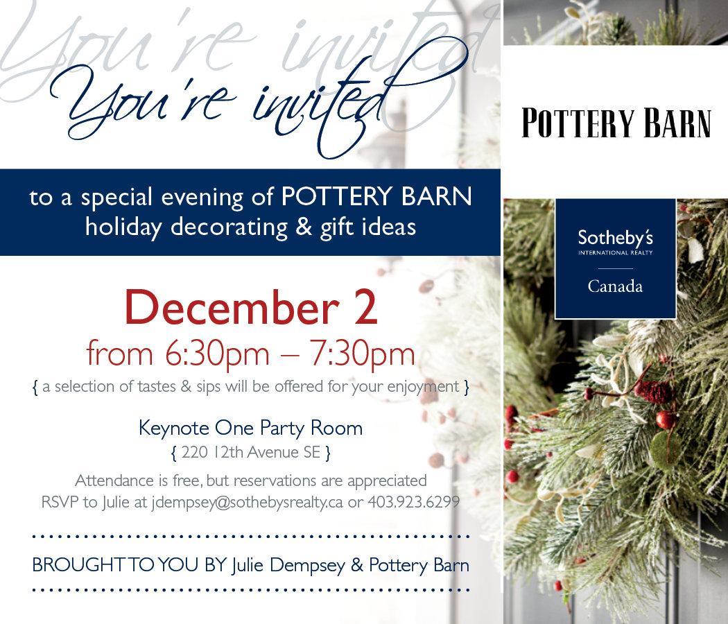 Keynote and Pottery Barn Invitation