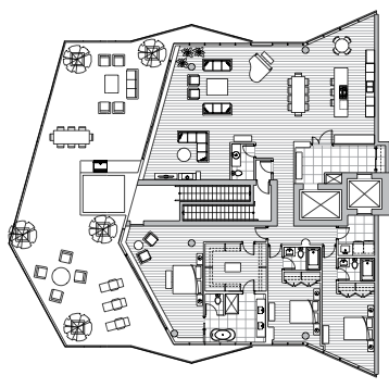 Estate Penthouse - Plan F1