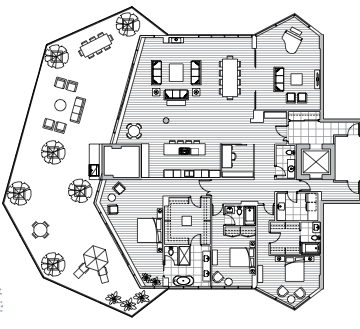 Estate Penthouse - Plan F2