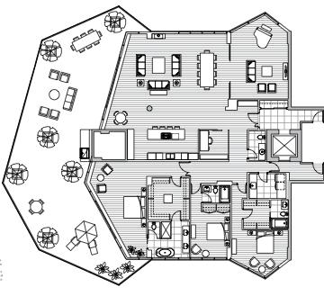 Estate Penthouse - Plan F2