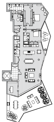 Estate Penthouse - Plan L