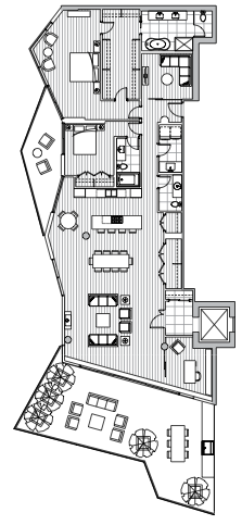 Estate Penthouse - Plan L1