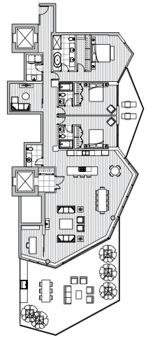 Estate Penthouse - Plan L2