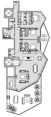 Estate Penthouse - Plan L2