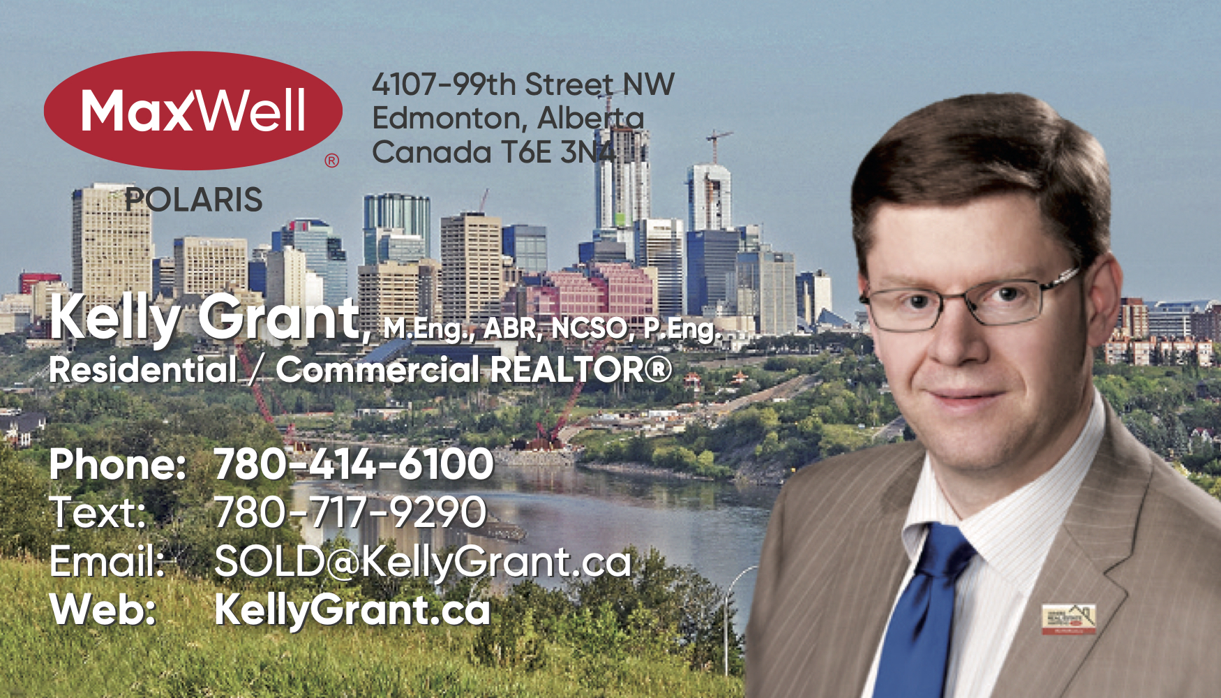 Kelly Grant MaxWell Business Card