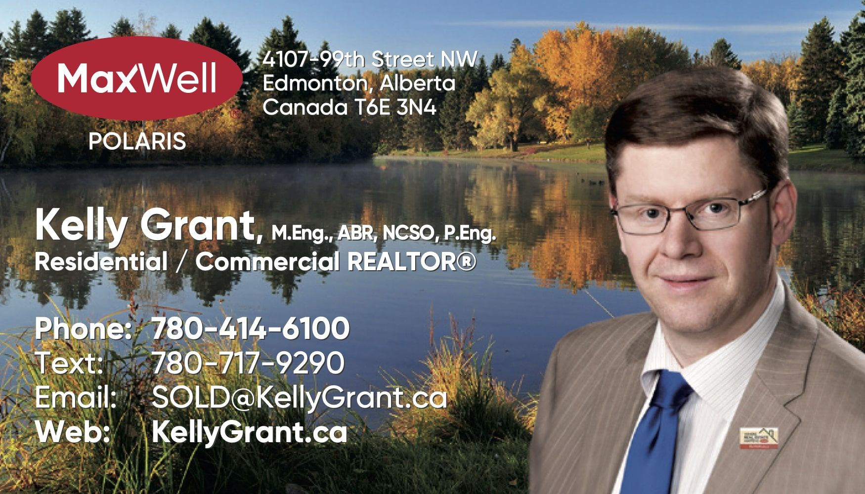 Kelly Grant MaxWell Business Card 1