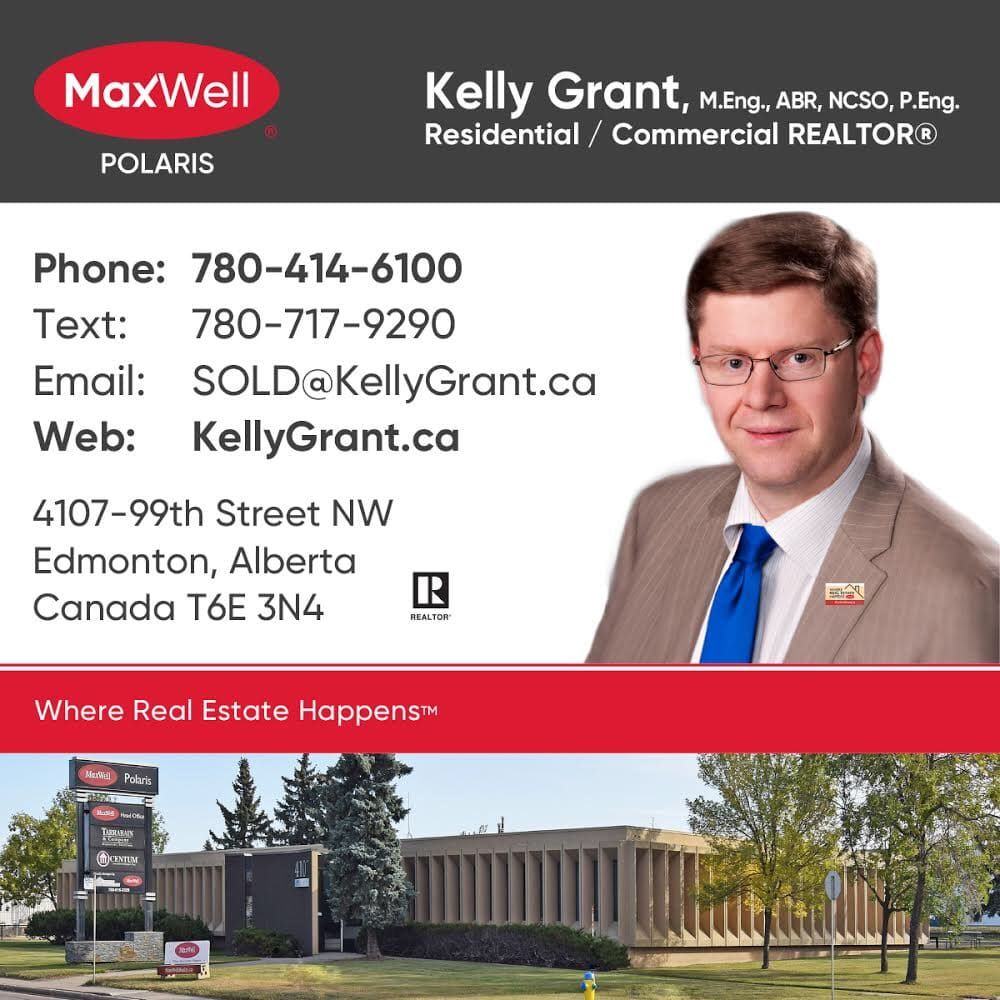 Kelly Grant Square Business Card