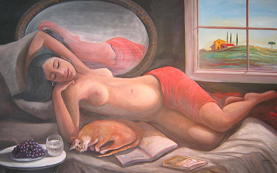 La Siesta Oil on canvas 30x40.jpg