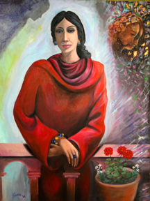 The woman on red.30x40.jpg