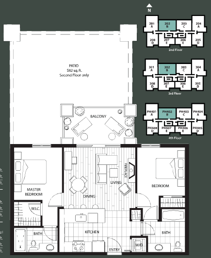 The Ivy floorplan 2