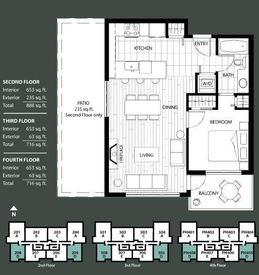 The Ivy floorplan 4