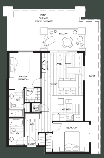 The Ivy floorplan 1