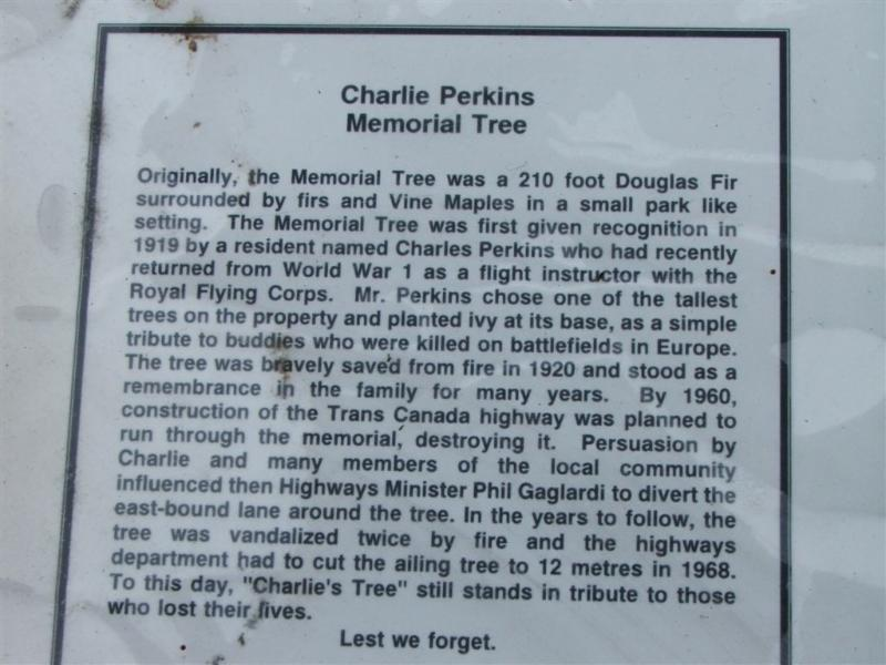 Charlies Tree Plaque