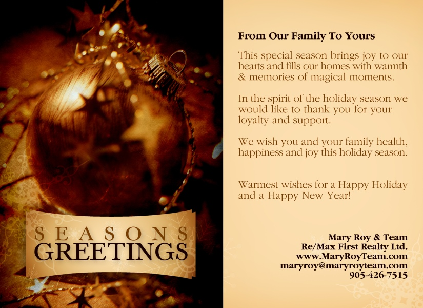 Seasons Greeting 2012