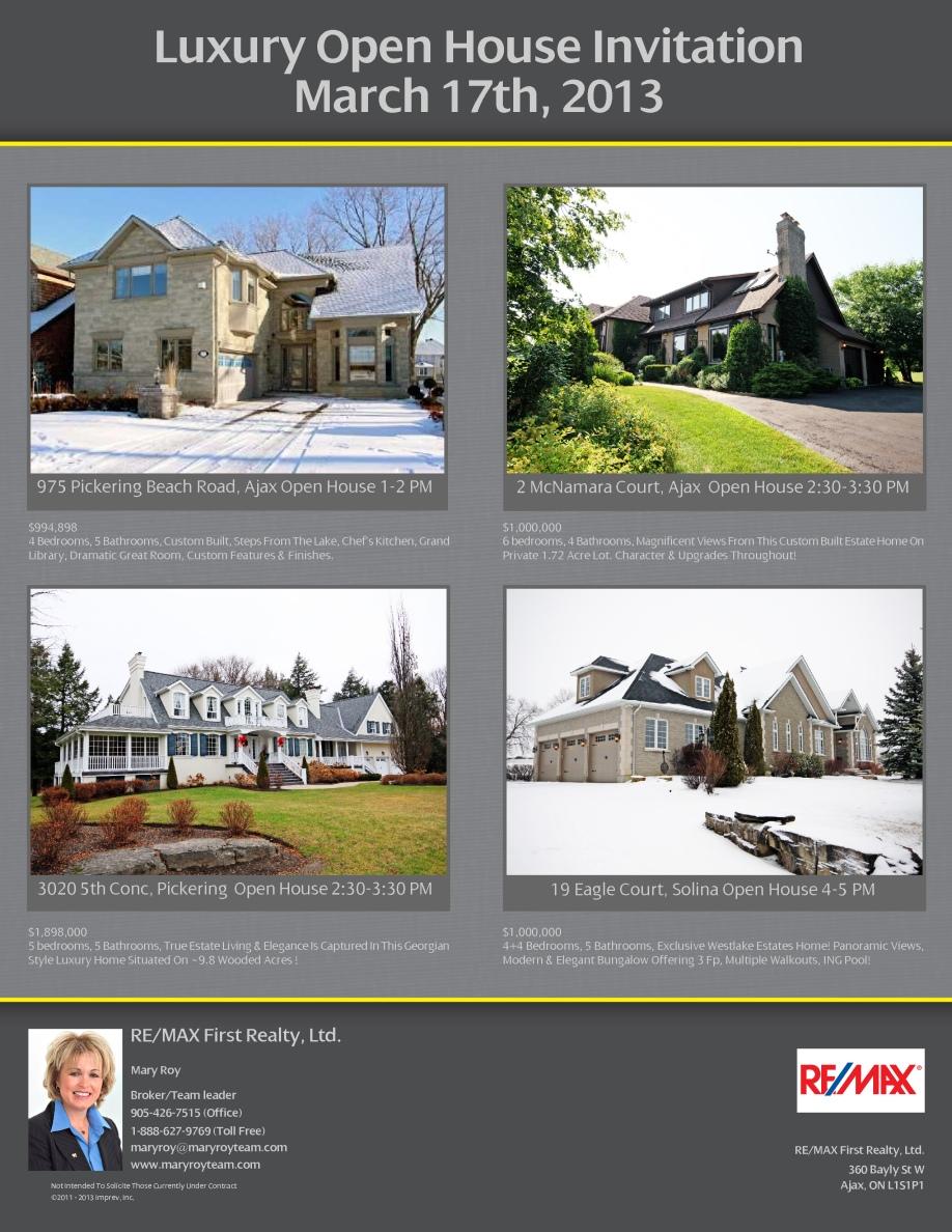 Luxury Open House Mar 17