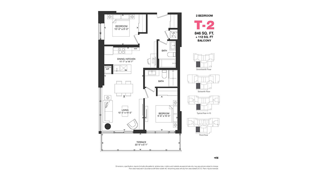 The Bowery By Richcraft, 255 Bay St, Ottawa, Centretown, One Level, Condo,  Apartment For Sale: 2 Bedroom