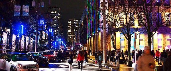 Yaletown illuminate street event