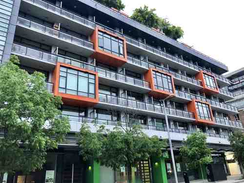 Main entrance and den of 2 bedroom Condo in Olympic Village, Vancouver