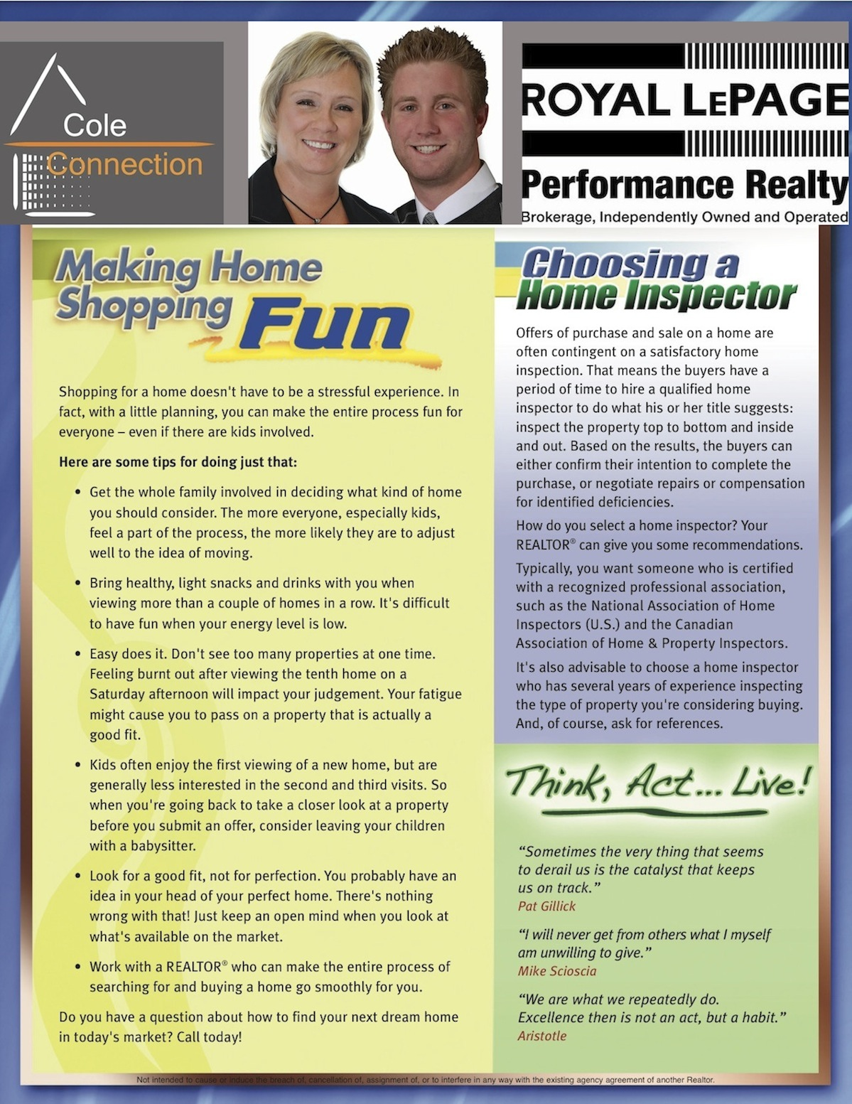 February 2011 Informed Buyer/Seller Newsletter