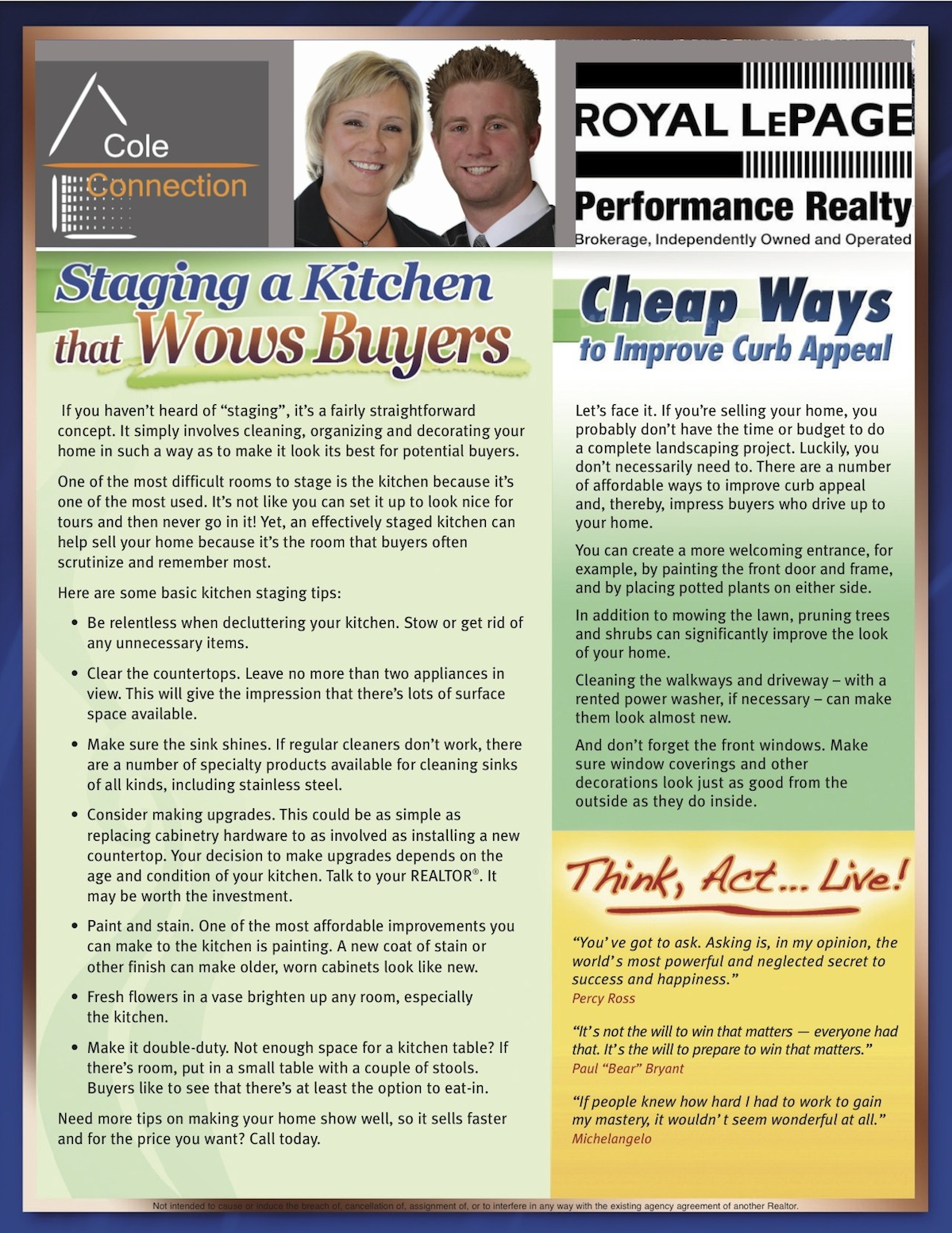 January 2011 Informed Buyer/Seller Newsletter