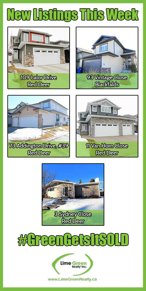 New Listings - Week of March 31 - April 6