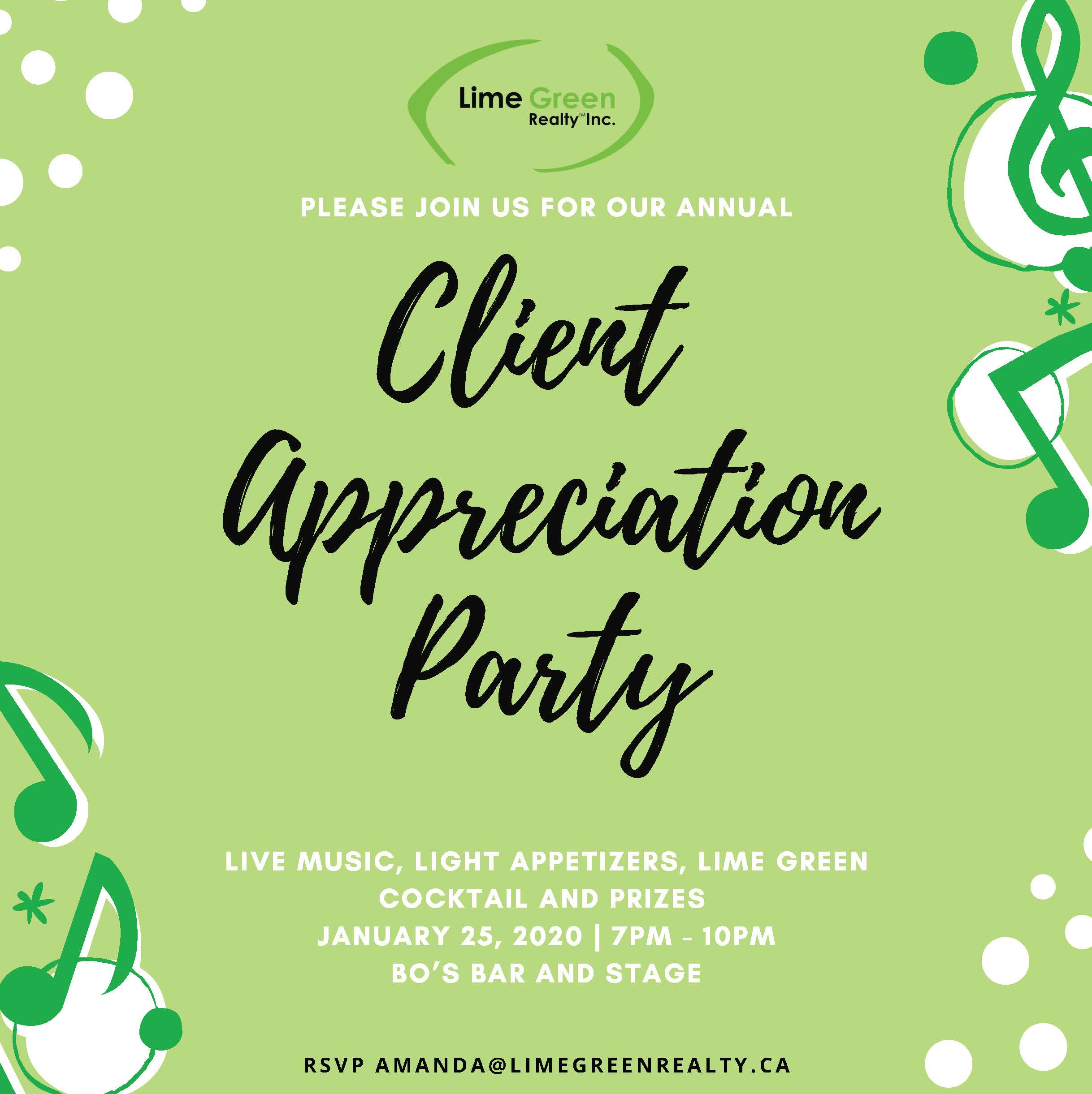 Annual Client Appreciation Party Invitation - Front